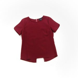 Lumiere boutique burgundy holiday blouse relaxed s